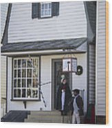 Wigmaker And Barber Shop Williamsburg Virginia Wood Print