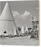 Wigwam Village #2 Coca-cola Sign Marion Post Wolcott  Cave City Kentucky July 1940-2014 Wood Print