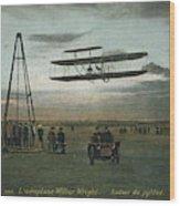 Wilbur Wright Rounds A Pylon Wood Print