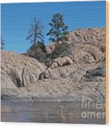 Willow Lake Number One Color Wood Print by Heather Kirk