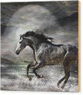 Wild As The Sea Wood Print by Carol Cavalaris
