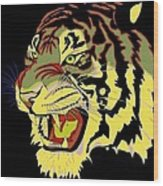 Wild At Heart Shere Khan Wood Print