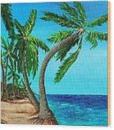 Wild Beach Wood Print