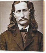 Wild Bill Hickok Painterly Wood Print by Daniel Hagerman