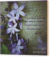 Wild Blue Flowers And Innocence 2 Wood Print