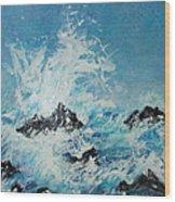 Wild Blue Too Wood Print