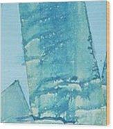 Wild Blue Waves Wood Print