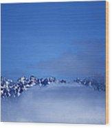 Wild Blue Yonder On The Rocks Wood Print