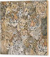 Wild Cat Spread Wood Print