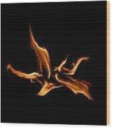 Wild Fire Wood Print