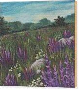 Wild Flower Field Wood Print