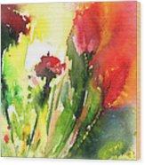 Wild Flowers 09 Wood Print