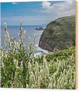 Wild Flowers At Pololu Wood Print