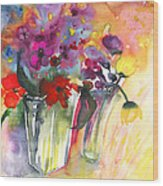 Wild Flowers Bouquets 02 Wood Print