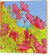 Wild Flowers In Bloom Wood Print