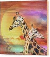 Wild Generations - Giraffes  Wood Print
