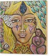 Wild Goddess Wood Print