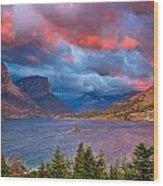 Wild Goose Island Overlook September Sunrise Wood Print