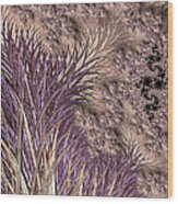 Wild Grasses Blowing In The Breeze  Wood Print