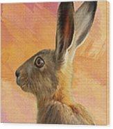 Wild Hare Wood Print by Tanya Hall