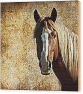 Wild Horse Fade Wood Print