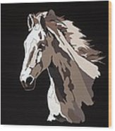 Wild Horse With Hidden Pictures Wood Print