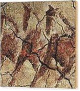 Wild Horses - Cave Art Wood Print
