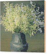 Wild Lilacs And Forget Me Nots Wood Print