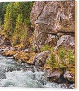 Wild Mountain River Wood Print