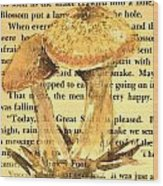 Wild Mushrooms Warm And Subtle Wood Print