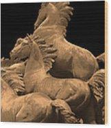 Wild Mustang Statue I I I Wood Print