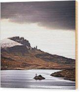 Wild Nature Landscape In Scotland, Isle Wood Print