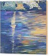 Wild Pond Reflections Wood Print