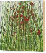 Wild Poppies And Grasses No2 Wood Print