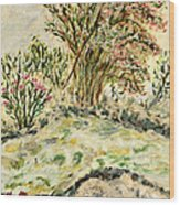 Wild Rhododendrons Near The River Wood Print