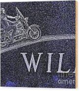 Wild Ride Wood Print