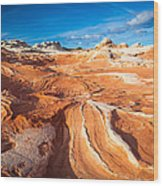 Wild Sandstone Landscape Wood Print by Inge Johnsson