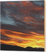 Wild Sunrise Over The Mountains Wood Print