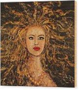 Wild Tigress Wood Print