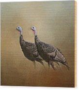 Wild Turkey At Shiloh Wood Print