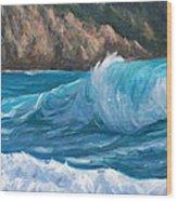 Wild Waves Wood Print