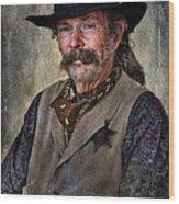 Wild West Cowboy Wood Print