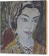 Wild West Woman Wood Print