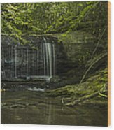 Wildcat Falls Wood Print