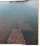 Wilderness Island In Lake Superior Wood Print