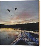 Wilderness Lake Sunset Wood Print