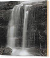 Wilderness Waterfall Wood Print