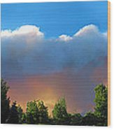 Wildfire Coming Wood Print