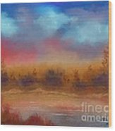 Wildfire Fire In The Sky Wood Print
