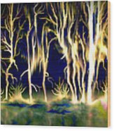 Wildfire Wood Print by Karunita Kapoor